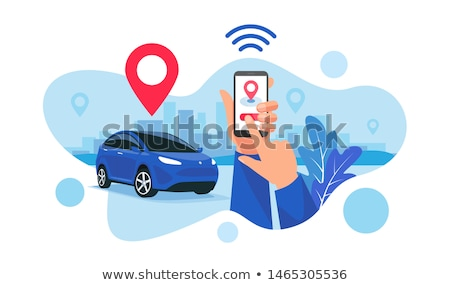 Vector car sharing and hire app concept Stock photo © tele52