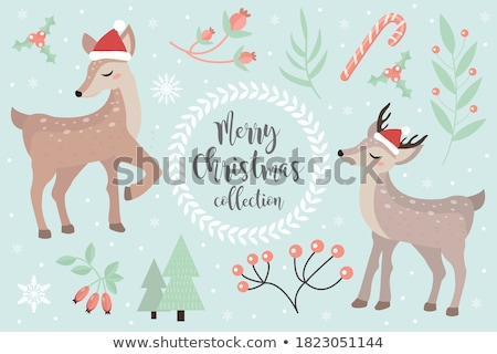 Little fawn on a winter background Stock photo © liolle