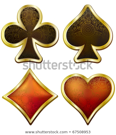 playing card suit symbol in shiny luxury style Stock photo © SArts