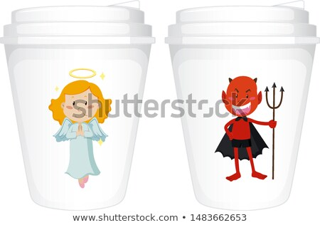 Ange diable design papier illustration Photo stock © bluering