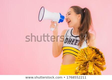 Portré gyönyörű lány iskola kék csoport Stock fotó © Lopolo