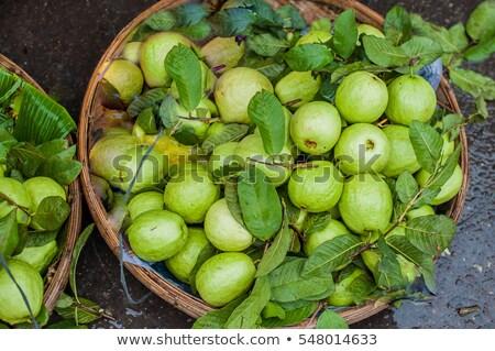 Guava in the wicker basket on the Vietnamese market Stock photo © galitskaya