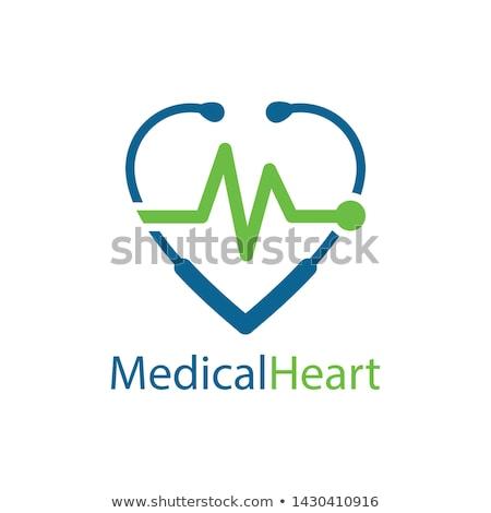 Cardiograma ícone batida de coração clínica vetor Foto stock © robuart