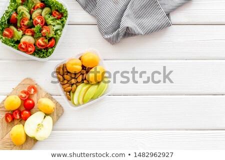 Nutrición nueces alimentos dieta saludable Foto stock © Margolana