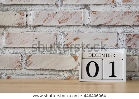Cubes calendar 1st December Stock photo © Oakozhan