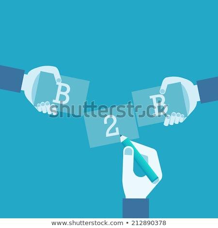 B2b marketing vector metaforen corporate identiteit Stockfoto © RAStudio