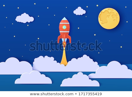 rocket ship space travel vector art illustration Stock photo © vector1st