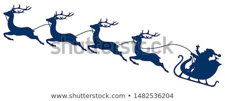 Рождества сани иллюстрация фон искусства Сток-фото © bluering