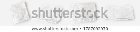 Branco papel folha cera açougueiro Foto stock © Digifoodstock