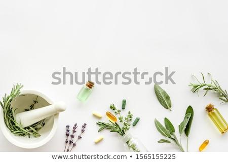 Natural remedy, healing herbs background Stock photo © JanPietruszka