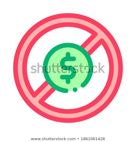 Dollaro vietare icona vettore contorno Foto d'archivio © pikepicture