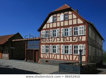 legno · casa · facciata · Inghilterra · costruzione · legno - foto d'archivio © trgowanlock