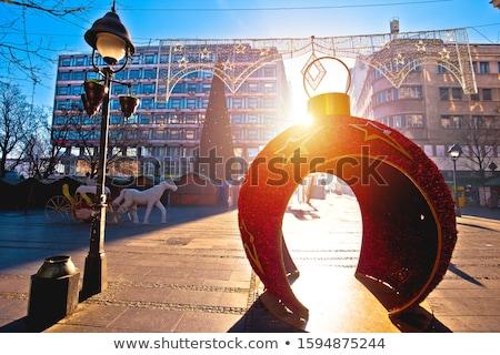 ベオグラード 市 センター ストリートビュー 冬季 装飾 ストックフォト © xbrchx