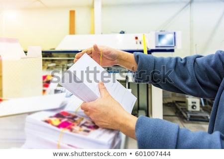 Mail cartes postales livraison post sûr rapide Photo stock © foxbiz