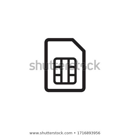 Mémoire carte icône vecteur illustration Photo stock © pikepicture