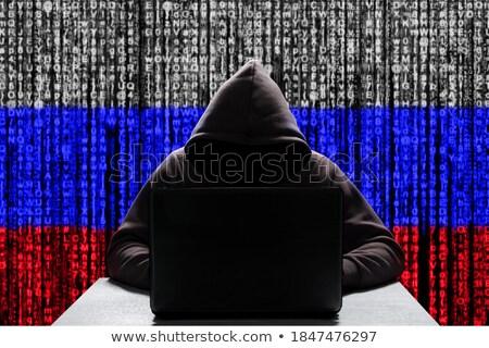 двоичный Код цветами русский флаг технологий Сток-фото © dolgachov