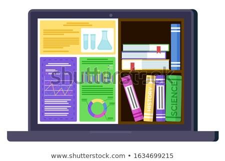 Sprawozdanie ebook wektora monitor laptop Zdjęcia stock © robuart