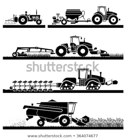Agricole véhicule camion signe village vecteur Photo stock © robuart