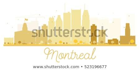 Montreal dourado silhueta simples turismo Foto stock © ShustrikS