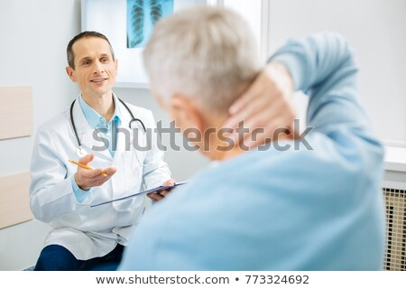 Chiropractor Doctor Consultation Stock photo © AndreyPopov