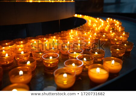 Candles in church of Wurzburg, Bavaria, Germany Stock photo © kyolshin