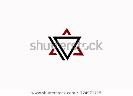手紙 デルタ 幾何学的な 三角形 ロゴデザイン ビジネス ストックフォト © kyryloff