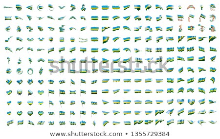 very big collection of vector flags of the Rwanda Stock photo © butenkow