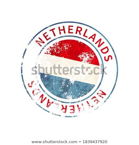 Hollandia felirat klasszikus grunge lenyomat zászló Stock fotó © evgeny89