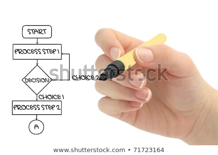 Stock photo: strategy flow chart on a blackboard