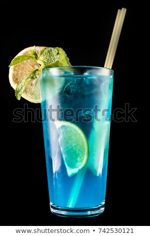 Cam elektrik limonata kokteyl gıda arka plan Stok fotoğraf © Alex9500