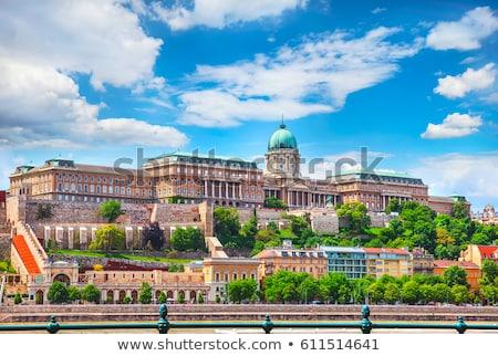 kastély · Budapest · Magyarország · lövés · éjszaka · épület - stock fotó © vladacanon