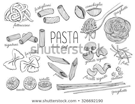 Tortellini spagetti tészta izolált fehér étel Stock fotó © marilyna