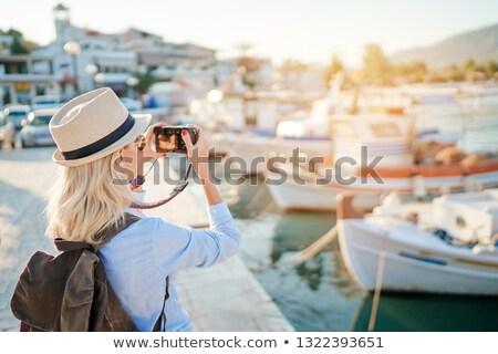 pescador · barco · sorridente · trabalhando · retrato · com - foto stock © phbcz