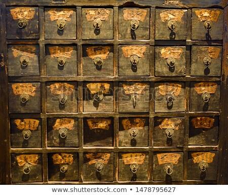 中国語 古い 木製 ドア クローズアップ 表示 ストックフォト © raywoo
