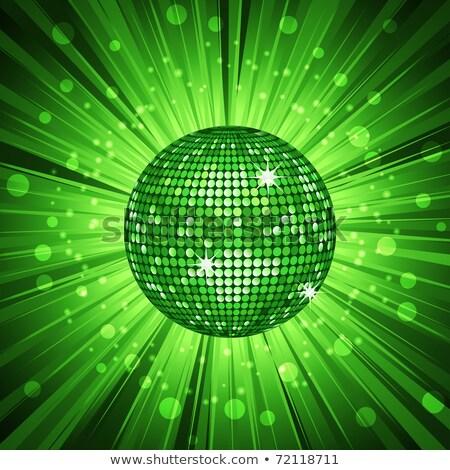 boule · disco · vert · rouge · glitter - photo stock © meikis