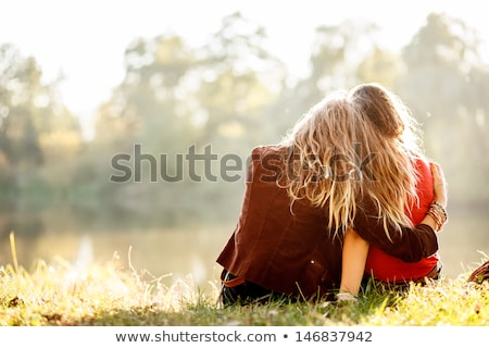 Two teenage girls in the countryside Stock photo © photography33
