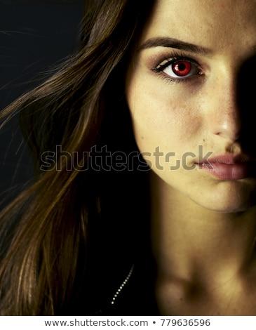 красивой · вампир · женщину · красное · платье · девушки · моде - Сток-фото © zybr78