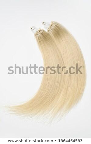 Blond kralen portret jonge mooie blonde vrouw Stockfoto © zastavkin