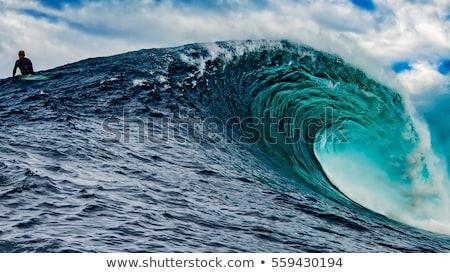 Grande azul surf ola océano naturaleza Foto stock © ozaiachin