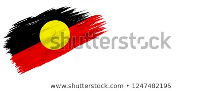 Grunge Aboriginal flag Stock photo © oxygen64