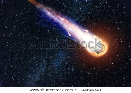 Komeet vlucht ruimte object achtergrond donkere Stockfoto © olgaaltunina