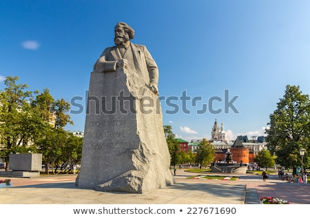 Estatua revolución cuadrados Moscú Rusia arte Foto stock © bobbigmac