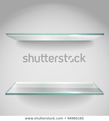 two empty glass square for exhibit stock photo © victoria_andreas
