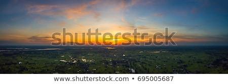Panoramic photos of sky at sunset - Thailand Stock photo © pzaxe