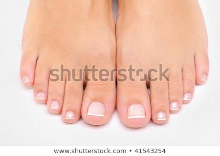 bien · Homme · pieds · rose · femme · nude - photo stock © Nobilior