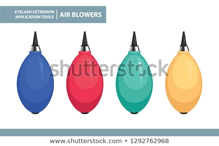 Blue air blower rubber pump dust cleaner Stock photo © nemalo
