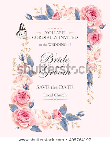 greeting card invitation wedding or announcement stock photo © marish