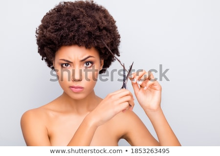 woman with scissors Stock photo © marylooo