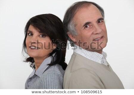 Házaspár hát nő arc szemek pár Stock fotó © photography33