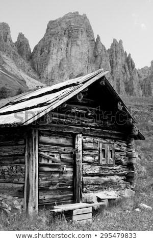 Okno górskich chata włoski alpy wiosną Zdjęcia stock © haraldmuc
